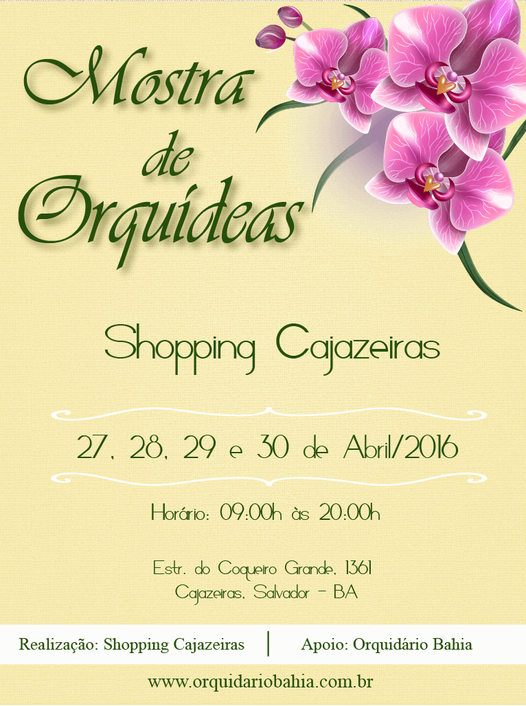 Feira de Orquídeas no Shopping Cajazeiras