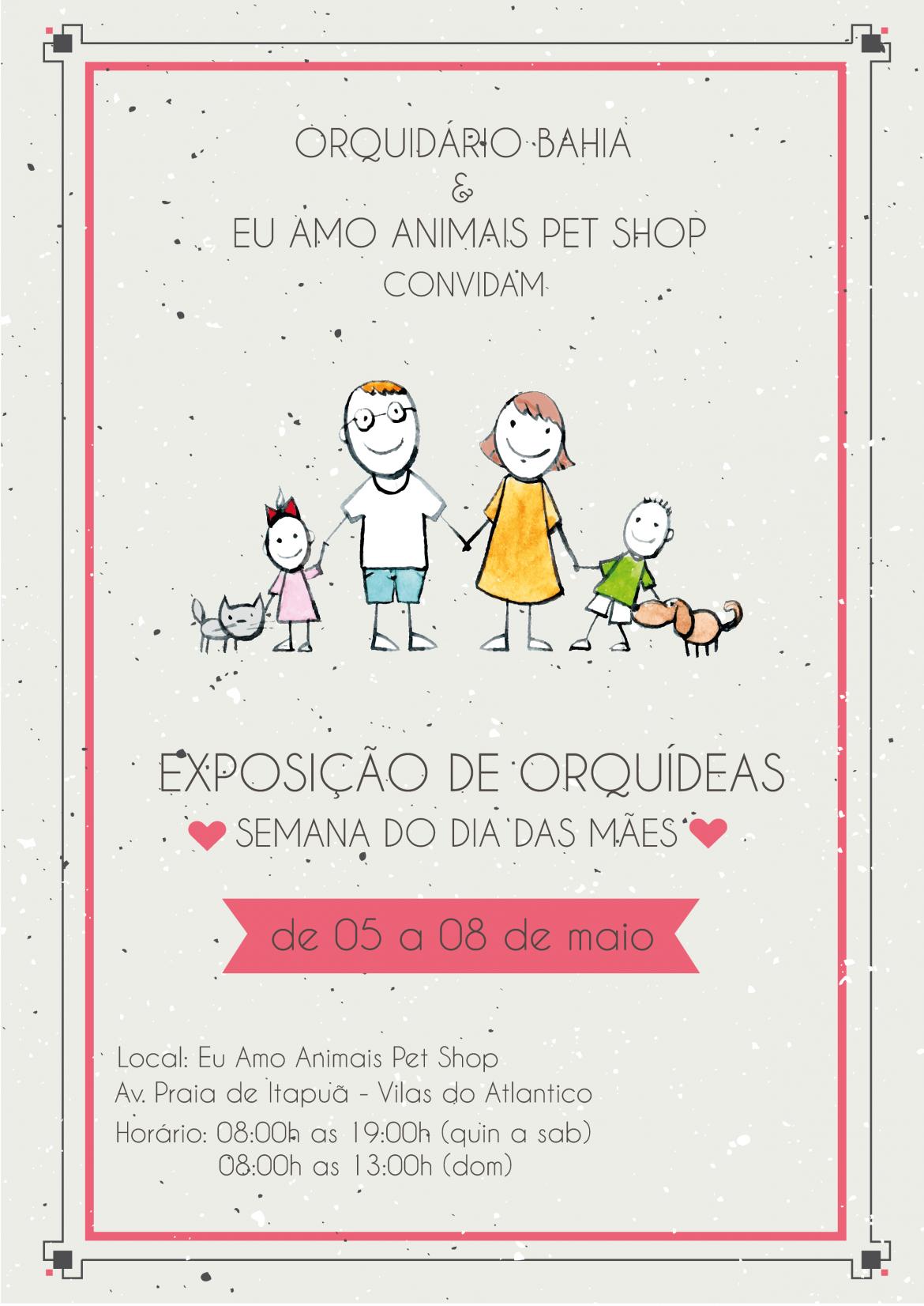 Exposição de Orquídeas no Eu Amo Animais Pet Shop Villas