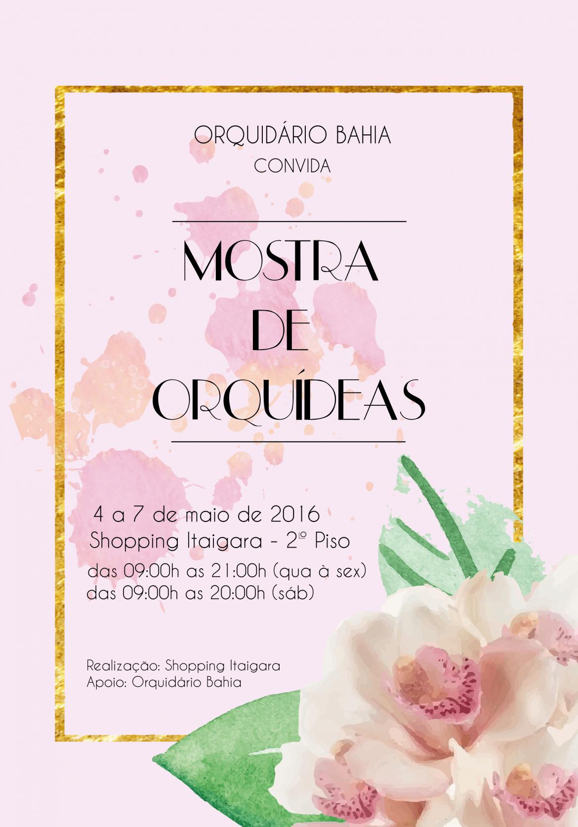 Mostra de Orquideas no Shopping Itaigara
