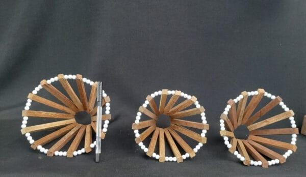Cachepô de Madeira Circular